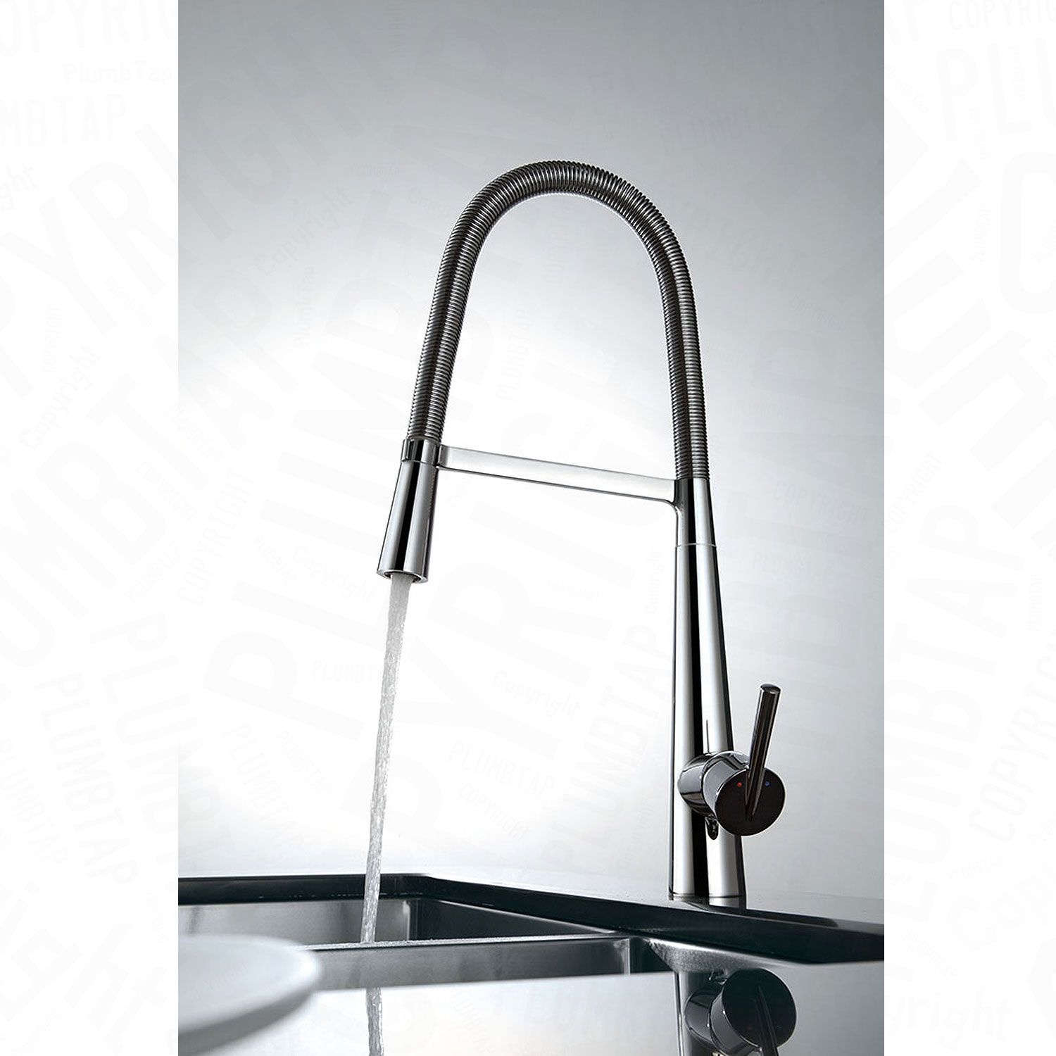 Modern Kitchen Pull Down Mixer Tap Swivel Spout 360 Stylish Chrome ...